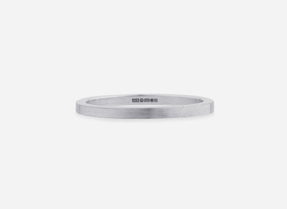 Classic Band 15 - Wedding Ring in White Gold