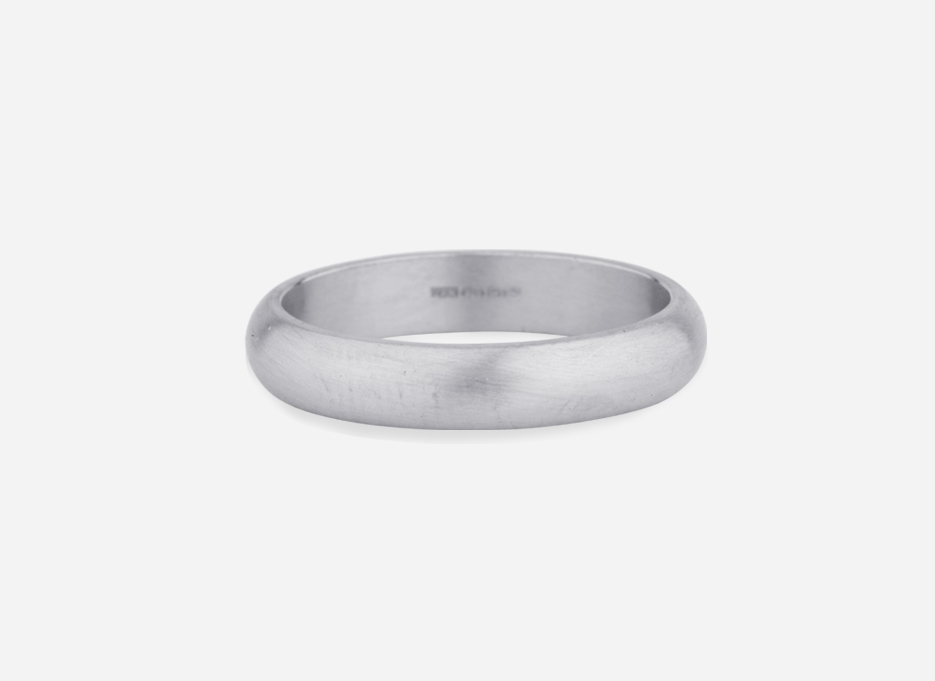 Unity Band 4.0 - Wedding Ring in White Gold